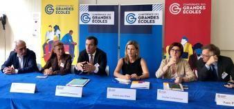 Le nouveau bureau de la CGE (Conférence des grandes écoles), élu le 4 juin 2019. //©Ariane Fery pour Educpros