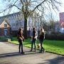 Étudiants sur le campus de l'université catholique de Lille - janvier 2015 //©Sophie Blitman