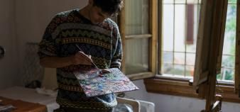 Un programme d'accueil d'artistes en exil a été mis en place par des écoles d'art. //©DEEPOL by plainpicture/Arno Images