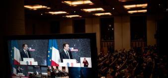 Un budget global de 1,5 milliard d'euros viendra porter la stratégie française en matière d'intelligence artificielle. //©nicolas messyasz/pool/REA