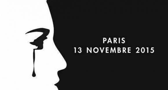 Visuel qui circule sur les réseaux sociaux en hommage aux victimes des attentats du 13 novembre 2015.
