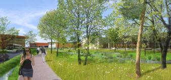 Vue du futur campus de l'IRT Jules Verne. // DR