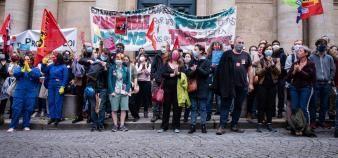 La mobilisation des chercheurs contre la LPPR, qui devrait être votée au Sénat, ne faiblit pas. //©Eric TSCHAEN/REA