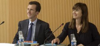 Sophie Béjean, présidente du conseil d'administration de Campus France et Antoine Grassin, directeur général - juin 2013 // DR