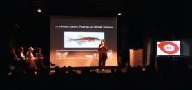 La lauréate du concours a offert un résumé vivant de sa thèse sur les capacités régénératives des poissons-zèbres. //©Université de Fribourg/Youtube