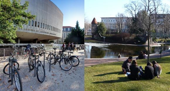 L'université Blaise Pascal (à gauche © Jérôme Pallé) et l'université d'Auvergne (à droite © Fabienne Guimont) en route vers la fusion.