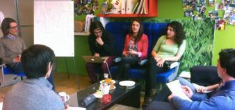 Design thinking - Paris Est d.school Ecole des ponts 2013 - Séance de coaching dans le petit salon