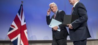 Le Français Michel Barnier et le Britannique David Davis sont les deux négociateurs en chef pour la sortie du Royaume-Uni de l'Union européenne. //©Wiktor Dabkowski/ZUMA-REA