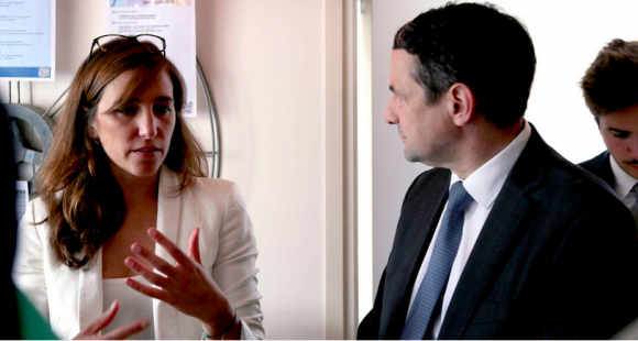 Laure Lucchesi, directrice de la mission Etalab, a rendu son rapport à Thierry Mandon, ce 21 avril 2017.