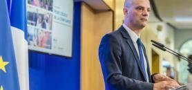 Lors de sa conférence de presse de rentrée, Jean-Michel Blanquer a laissé la porte de la discussion autour de la réforme du baccalauréat grande ouverte. //©Gilles Rolle/REA