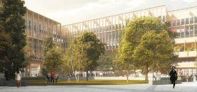 Le futur bâtiment de l'Institut Mines-Télécom à Saclay //©Grafton Architects