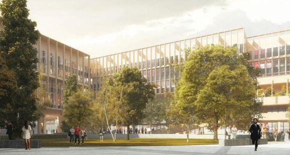 Le futur bâtiment de l'Institut Mines-Télécom à Saclay