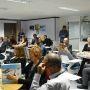 Les responsables de programmes masters de l'EFMD testent Game of Deans, un jeu sérieux sur l'enseignement supérieur, le 3 décembre 2014 à Grenoble //©Etienne Gless