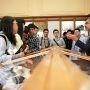 Les élèves de la première promo de ParisTech Shanghai Jiao Tong, en visite en juillet 2014 à Mines ParisTech. //©T. Vaerman / Mines ParisTech