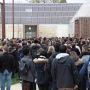 Universite Paris-Est Marne-La-Vallee - Maison de l'étudiant - Minute de silence - 16 novembre 2015 //©Camille Stromboni