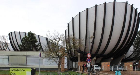 """Les """"corolles"""" ou """"coquilles"""", symboles de l'université de Reims Champagne-Ardenne //©Delphine Dauvergne"""