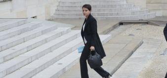 Najat Vallaud-Belkacem lors du Conseil des ministres exceptionnel, samedi 14 novembre 2015. //©Gilles ROLLE/REA