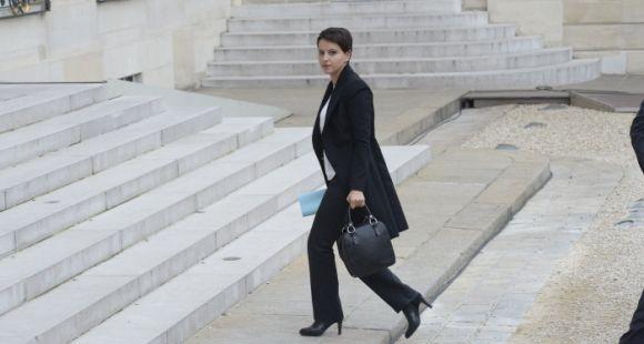 Najat Vallaud-Belkacem lors du Conseil des ministres exceptionnel, samedi 14 novembre 2015.