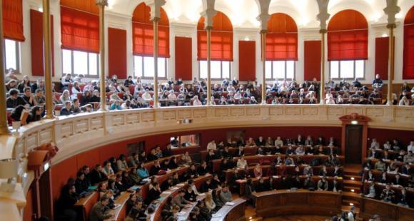 Grand amphithéâtre de l'université Lyon 2 - Tous droits réservés Serge Tanet - Université Lumière Lyon 2