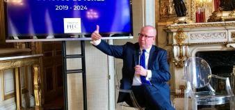 Peter Todd, DG de HEC Paris, lors de la soirée de lancement de la campagne de levée de fonds 2019-2024 le 20 juin 2019. //©Etienne Gless