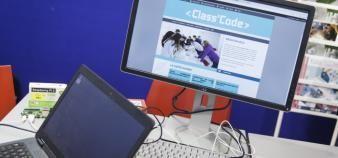 Class'Code, une initiative portée par l'Inria, propose un programme de formation gratuit à destination de toute personne désireuse d'initier les jeunes de 8 à 14 ans à la pensée informatique. //©Simon LAMBERT/HAYTHAM-REA