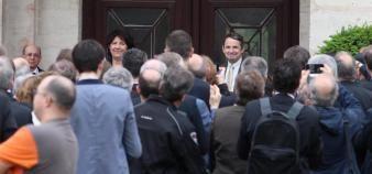 Pendant la cérémonie de passation des pouvoirs entre Thierry Mandon et Frédérique Vidal, nouvelle ministre de l'Enseignement supérieur, de la Recherche et de l'Innovation. //©Xavier Teissedre - CPU