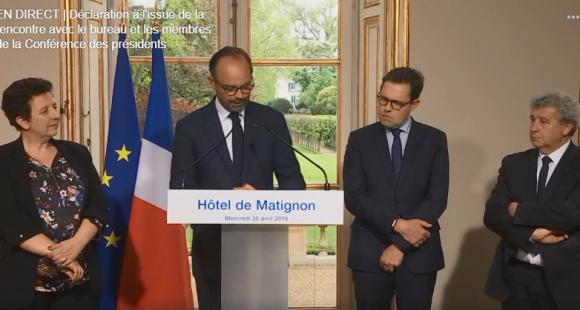 Le Premier ministre a tiré un bilan d'étape de Parcoursup, mercredi 25 avril 2018.
