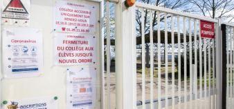 Les portes des collèges et lycées rouvriront-elles avant cet été ? //©Come SITTLER/REA
