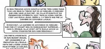 À travers la satire, l'auteur de la bande dessinée décrit les dessous de
