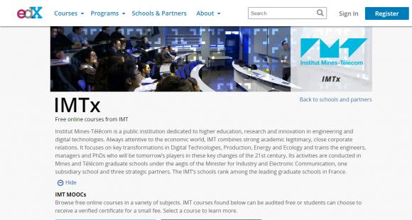 institut Mines-Télécom sur EdX