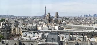 Depuis son balcon, l'observatoire de la Sorbonne offre une vue imprenable sur Paris. //©Aurore Abdoul-Maninroudine