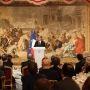 François Hollande recevait les présidents d'université à l'Élysée lors d'un dîner le 12 décembre 2014 //©Camille Stromboni