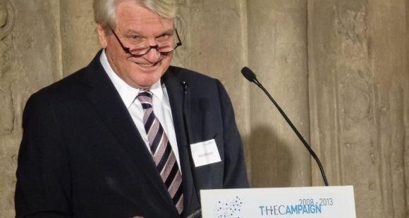"""Daniel Bernard, président de la Fondation HEC : """"Cette campagne de fundraising marque un élan de générosité sans précédent pour la recherche et l'enseignement supérieur en France"""" / ©E.Gless - novembre 2013"""