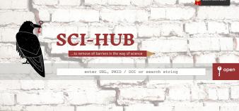 Sci-Hub se définit comme une solution pérenne au problème d'accès à la littérature scientifique. //©SCI-HUB