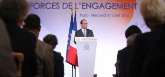 Le 31 août 2016, quinze nouveaux lauréats de La France s'engage ont été labellisés. //©Présidence de la République - F. Lafite