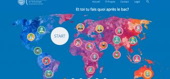 Capture d'écran du site d'orientation