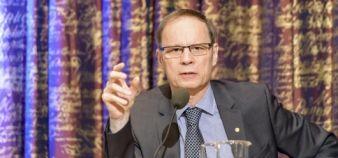 Jean Tirole, à Stockholm, le 7 décembre 2014, quelques jours avant de recevoir son prix Nobel d'économie. //©Shi Tiansheng/XINHUA-REA
