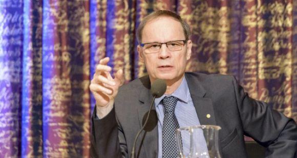 Jean Tirole, à Stockholm, le 7 décembre 2014, quelques jours avant de recevoir son prix Nobel d'économie.