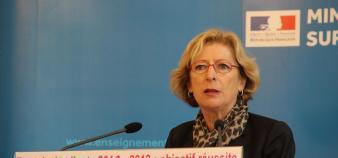 Geneviève Fioraso, lors de la conférence de presse du 18 septembre 2012 //©Camille Stromboni