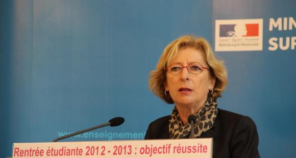 Geneviève Fioraso, lors de la conférence de presse du 18 septembre 2012