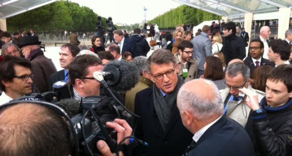 Vincent Peillon lors de l'hommage à Jules Ferry, le 15 mai 2012