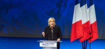 Parmi les 144 engagements présentés par Marine Le Pen début février 2017, sept concernent plus particulièrement l'enseignement supérieur. //©Stephane AUDRAS/REA