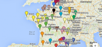 Carte de France - regroupements universitaires - juillet 2014