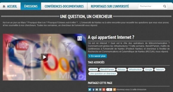 "Université de Nantes - ""Une question, un chercheur"""