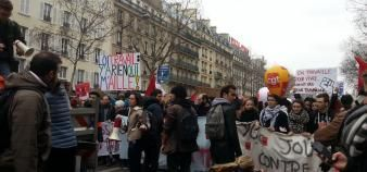 Seulement 57 lycées sur 2.500 ont été bloqués le 24 mars, selon le ministère de l'Éducation nationale. //©Sarah Hamdi