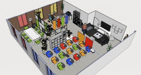 un espace de coworking universitaire marne la vall e educpros. Black Bedroom Furniture Sets. Home Design Ideas