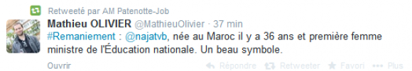 Tweet2 - Najat Vallaud Belkacem