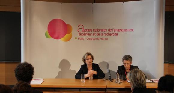 Assises - Geneviève Fioraso - Françoise Barré-Sinoussi - Paris 26/11/2012 - ©C.Stromboni