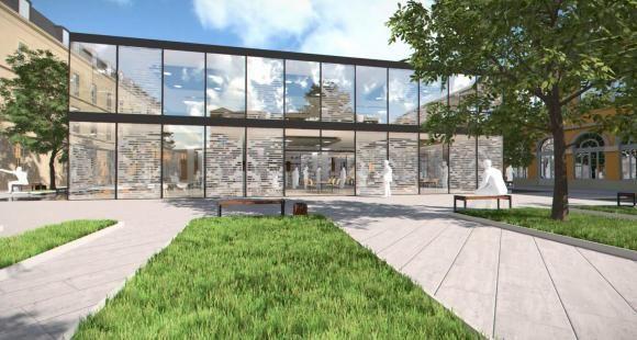 La Cour Gribeauval, ancien potager du couvent, accueillera en sous-sol le learning center de Sciences po.