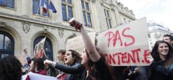 La mobilisation étudiante survivra-t-elle aux vacances d'avril ? //©Nicolas Tavernier/REA